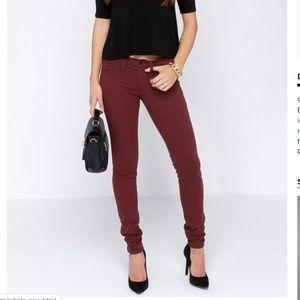 Flying Monkey Burgundy Skinny Jeans